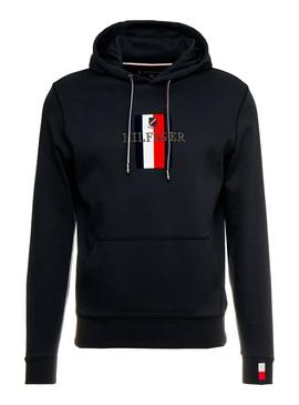Felpe Tommy Hilfiger Luxury Artwork Blu Uomo