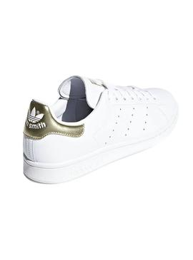 Sneaker Adidas Stan Smith Bianco Gold Donna