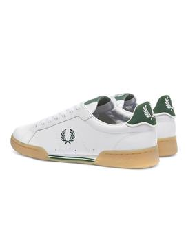 Sneaker Fred Perry B722 Bianco Verde Uomo