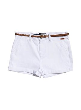 Short Superdry Chino Bianco per le donne