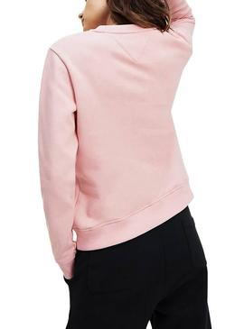 Felpe Tommy Jeans Essential Logo rosa Donna