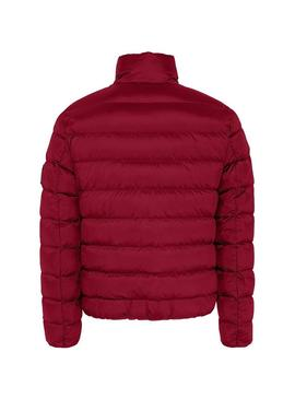 Giubbotto Tommy Jeans Essential Down Rosso Uomo