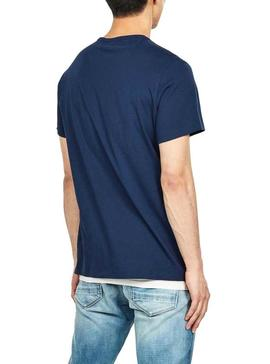T-Shirt G-Star Boxed Blu Per Uomo