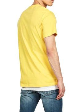 T-Shirt G-Star Boxed Giallo Per Uomo