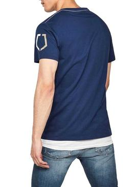 T-Shirt G-Star Shield Blu Per Uomo