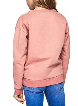 Felpe Pepe Jeans Dale Pink per Bambina