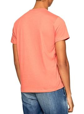 T-Shirt Pepe Jeans Sampson Coral Uomo
