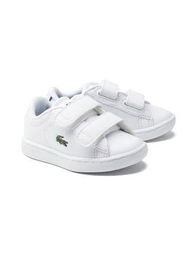 Sneaker Lacoste Carnaby Evo bianco per Bambinos