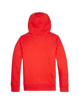 Felpe Tommy Hilfiger Essential Rosso per bambino