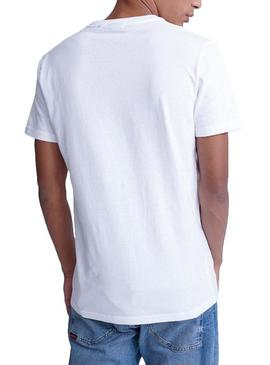 T-Shirt Superdry Core Essential Bianco Uomo