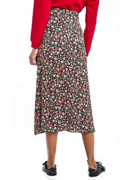 Gonna Naf Naf Lolita Midi Flowers donna