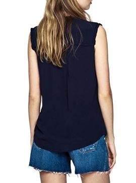 Camicetta Pepe Jeans Joan Blu Navy Donna