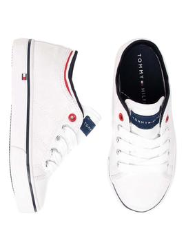 Sneaker Tommy Hilfiger Low White per bambini