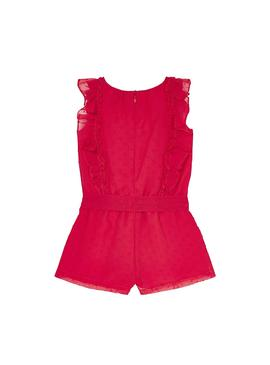 Jumpsuit Mayoral Plumeti Rosso per Bambina