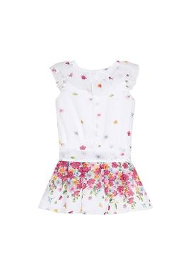 Jumpsuit Mayoral Flowers Bianco per Bambina