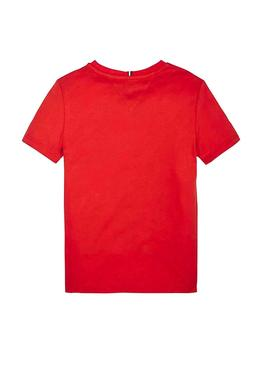 T-Shirt Tommy Hilfiger Pannello Rosso per Bambino
