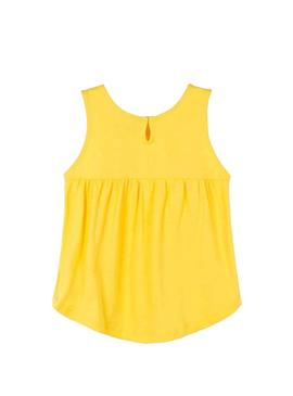 T-Shirt Mayoral Embroidery Giallo per Bambina