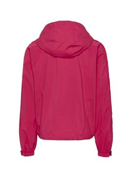 Giacca a vento Tommy Jeans Branded Rosa per Donna