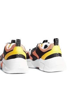 Sneaker Tommy Jeans Chunky Giallo per Donna