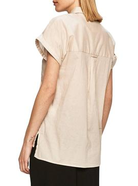 Camicia Pepe Jeans Ashley Beige per Donna