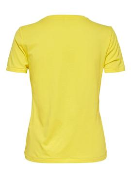 T-Shirt Only Cina Giallo per Donna