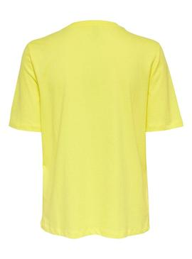 T-Shirt Only Sui Giallo per Donna