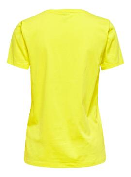T-Shirt Only Lava Giallo per Donna