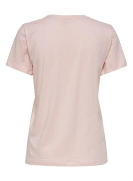 T-Shirt Only Lava Rosa per Donna