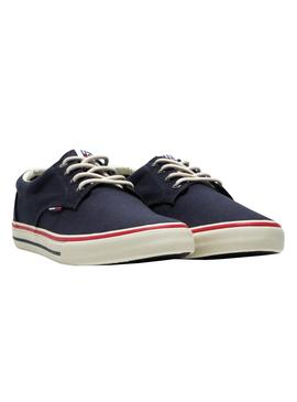 Sneaker Tommy Jeans Textile Blu per Uomo