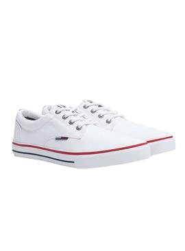 Sneaker Tommy Jeans Textile Bianco per Uomo