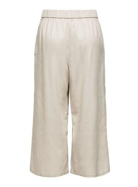 Pantaloni Only Carisa Beige per Donna