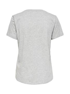 T-Shirt Only Liggy Gris per Donna