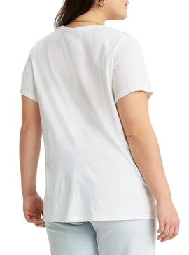 T-Shirt Levis Perfect Tee Plus Bianco per Donna