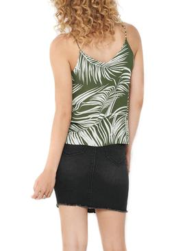 Top Only Augustina Verde per Donna