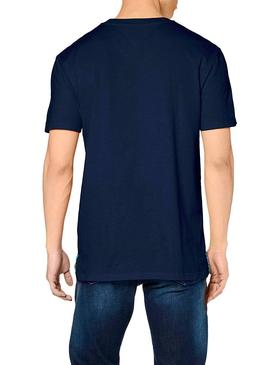 T-Shirt Tommy Jeans Basic Blu per Uomo