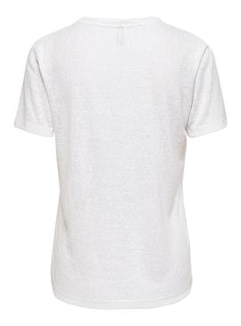 T-Shirt Only Piper Bianco per Donna