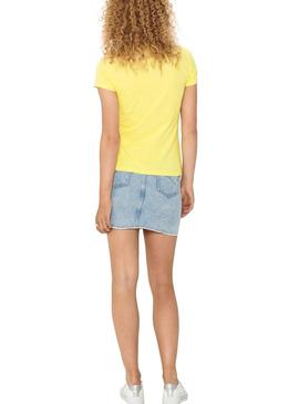 T-Shirt Only Snoopy Giallo per Donna
