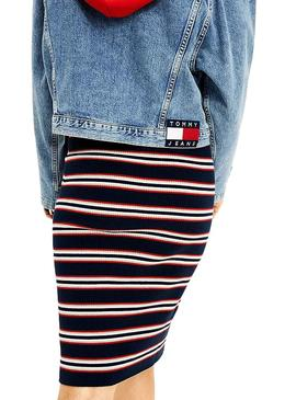 Giubbotto Tommy Jeans Denim oversize per Donna