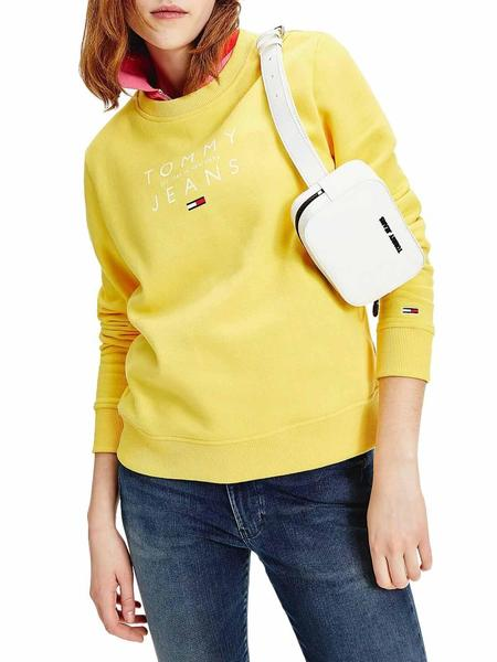 Felpe Tommy Jeans Fruit Giallo per Donna