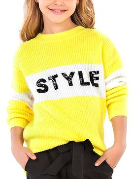Pullover Mayoral Style Giallo per Bambina
