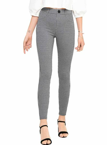 Leggings Only Taylor Quadri per Donna