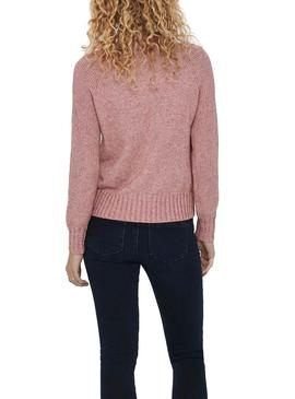 Pullover Only Sandy Rosa per Donna