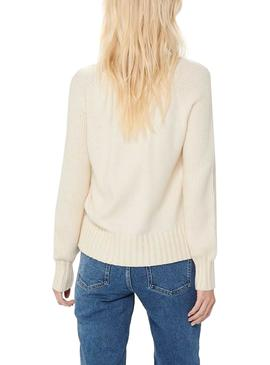 Pullover Only Beige sabbia per Donna