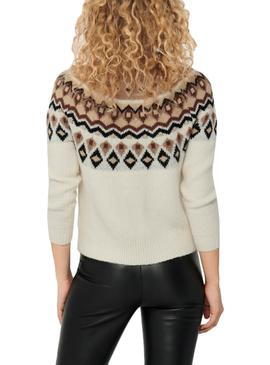 Pullover Only Beige Lamber per Donna