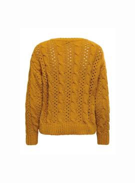 Pullover Only Chanet Giallo per Donna