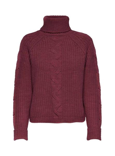 Pullover Only Margherita Bordeaux per Donna