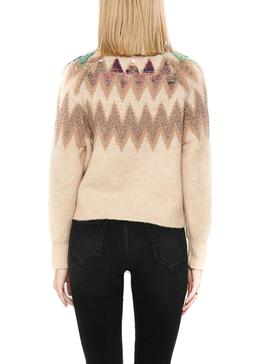 Pullover Only Mary Beige per Donna