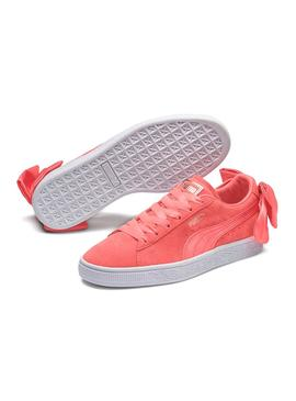 Sneaker Puma Suede Bow Pink