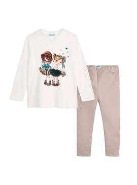 Set Mayoral Leggings e T-Shirt Scamosciatolina Bambina