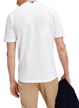 T-Shirt Tommy Hilfiger Icon Coin Bianco Uomo